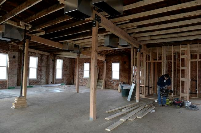 The upstairs space in the Welton Street building will be used for office space. State tax credits are going to companies rehabilitating historic buildings. (Kathryn Scott Osler, The Denver Post)